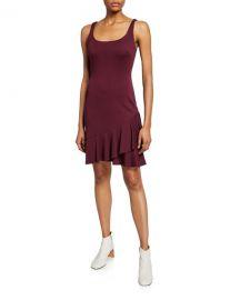 Bailey 44 Malinda Sleeveless Ruffle-Hem Ponte Dress at Neiman Marcus