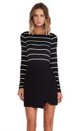 Bailey 44 Manic Depressive Dress Stripe in Black  amp  White from Revolve com at Revolve
