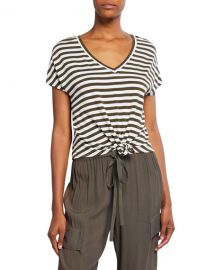 Bailey 44 Ocelot Striped V-Neck Top at Neiman Marcus