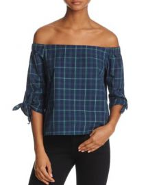 Bailey 44 Off-the-Shoulder Plaid Top at Bloomingdales