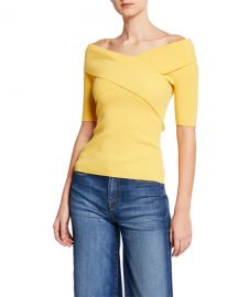 Bailey 44 Shore Leave Ribbed Cross-Front Sweater at Neiman Marcus