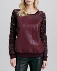 Bailey 44 Stolen Bride Faux-Leather Sweatshirt at Neiman Marcus