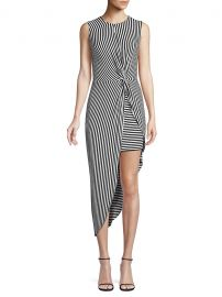 Bailey 44 Vertigo Stripe Asymmetric Dress at Saks Off 5th