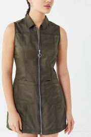 Bailey O-Ring Zip-Front Mini Dress at Urban Outfitters