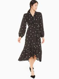 Bakery Dot Wrap Dress by Kate Spade at Kate Spade