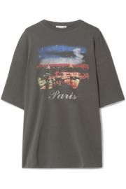 Balenciaga - Oversized printed cotton-jersey T-shirt at Net A Porter