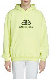 Balenciaga BB Logo Hooded Sweatshirt   Nordstrom at Nordstrom