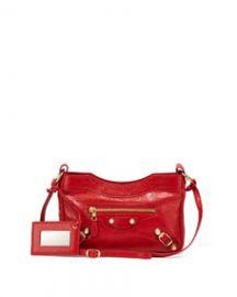 Balenciaga Giant 12 Golden Lambskin Shoulder Bag Red at Neiman Marcus