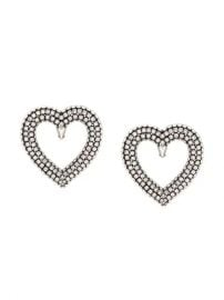 Balenciaga Heart Strass Earrings - Farfetch at Farfetch