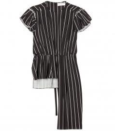 Balenciaga Stripe Frill Top at Mytheresa