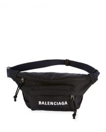 Balenciaga Wheel Small Nylon Logo Belt Bag at Neiman Marcus