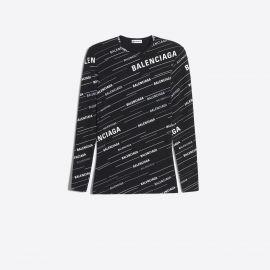 Balenciaga monogram print fitted t-shirt at Balenciaga