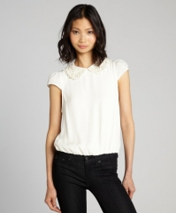 Bali Beaded Collar top by Alice and Olivia at Bluefly