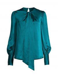 Bali Puff-Sleeve Silk Shirt at Saks Fifth Avenue