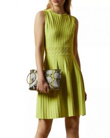 Balieey Pleated Mini Dress by Ted Baker at Bloomingdales