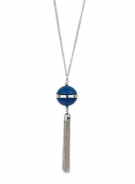 Ball and tassle necklace at Dorothy Perkins