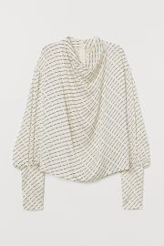 Balloon-Sleeved Blouse at H&M