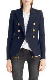 Balmain Double Breasted Wool Blazer at Nordstrom