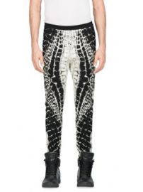 Balmain - Calecon Motif Croco Devore Skinny Pants at Saks Fifth Avenue