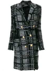 Balmain Double Breasted Coat - Farfetch at Farfetch