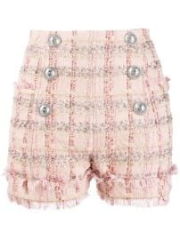Balmain Double Breasted Pink Shorts  - Farfetch at Farfetch