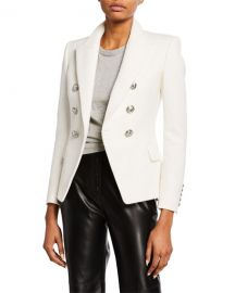 Balmain Double-Breasted Silvertone-Button Classic Blazer at Neiman Marcus