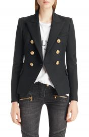 Balmain Double Breasted Wool Blazer   Nordstrom at Nordstrom