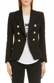 Balmain Double Breasted Wool Jacket   Nordstrom at Nordstrom