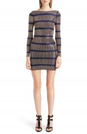 Balmain Embellished Stripe Minidress at Nordstrom
