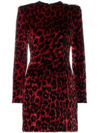 Balmain Leopard Print Silk Mini Dress  - Farfetch at Farfetch