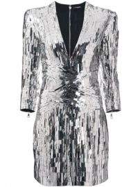 Balmain Sequin Embellished Mini Dress - Farfetch at Farfetch