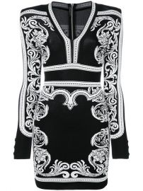 Balmain Short Baroque Dress  2 150 - Buy Online - Mobile Friendly  Fast Delivery  Price at Farfetch