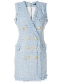 Balmain Tweed Mini Dress - Farfetch at Farfetch