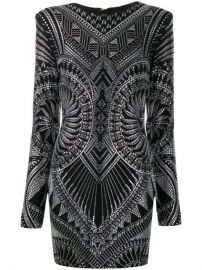 Balmain crystal-embellished Fitted Dress - Farfetch at Farfetch
