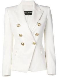 Balmain double-breasted blazer at Farfetch