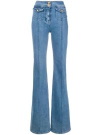 Balmain high-waist Flared Jeans - Farfetch at Farfetch