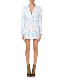BalmainDegrade Sequin 6-Button Jacket Dress at Neiman Marcus