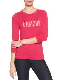 Banana Republic Factory  L amour Machine Washable Forever Scalloped Neck Pullover Sweater at Banana Republic