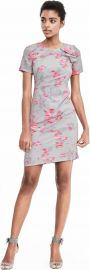 Banana Republic Ikat Ruffle Shoulder Dress at Banana Republic
