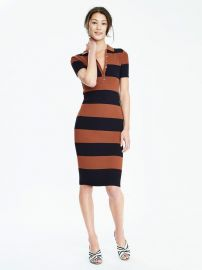 Banana Republic Ribbed Polo Sweater Dress at Banana Republic