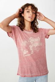 Band Tee in Janis Joplin Faded Rose by Cotton On at Cotton On