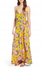 Band of Gypsies Chrysanthemum Wrap Front Dress at Nordstrom