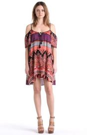 Band of Gypsies Cold Shoulder Mosaic Dress at Nordstrom