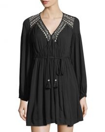 Band of Gypsies Embroidered Dress at Last Call