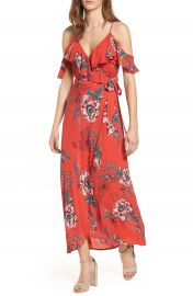 Band of Gypsies Foulard Cold Shoulder Dress at Nordstrom