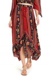 Band of Gypsies High Low Button Front Skirt   Nordstrom at Nordstrom