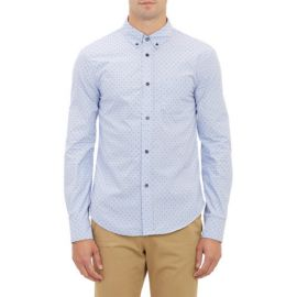 Band of Outsiders Stripe andamp Dash-Pattern Dobby Shirt at Barneys