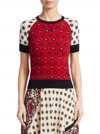 Bandana Jacquard Pullover at Saks Fifth Avenue