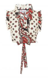 Bandana Print Poplin Crop Top by Red Valentino at Moda Operandi