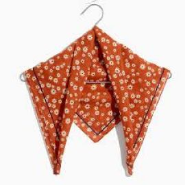 Bandana in Daisy Print Afterglow Red at Madewell